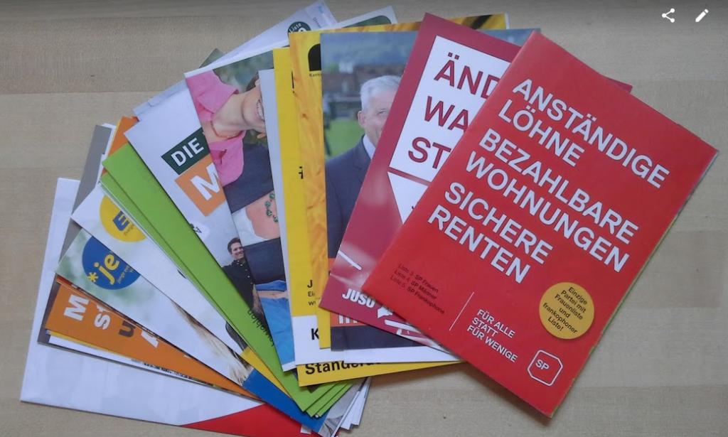 Wahlprospekte Nationalratswahlen und Ständeratswahlen Kanton Bern 2015